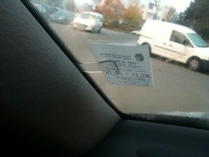 tichet parcare