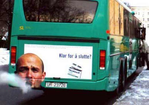 3. Autobuz cu reclamă antifumat